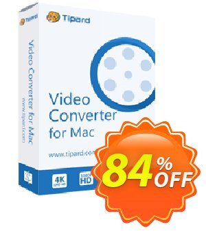 Tipard MP4 Video Converter for Mac Coupon discount 50OFF Tipard - 50OFF Tipard