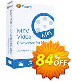 Tipard MKV Video Converter for Mac Coupon, discount Tipard MKV Video Converter for Mac wondrous promotions code 2020. Promotion: 50OFF Tipard