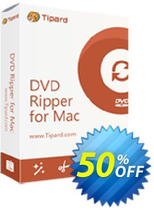 Tipard DVD Ripper for MAC (1 month) discount coupon 50OFF Tipard - 50OFF Tipard