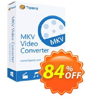 Tipard MKV Video Converter 프로모션 코드 Tipard MKV Video Converter wonderful promotions code 2019 프로모션: 50OFF Tipard