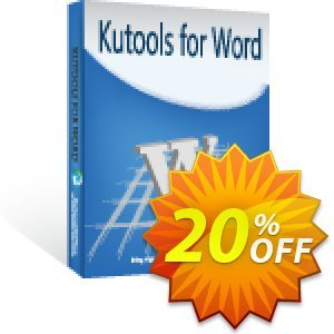 Kutools for Word Coupon, discount 20% OFF Kutools for Word Oct 2020. Promotion: Wonderful deals code of Kutools for Word, tested in October 2020