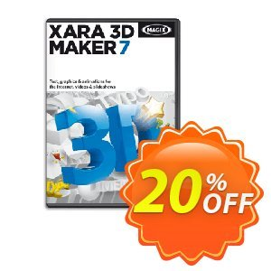 Xara 3D Maker 7 Coupon, discount 20% OFF Xara 3D Maker 7 2020. Promotion: Special promo code of Xara 3D Maker 7, tested in {{MONTH}}