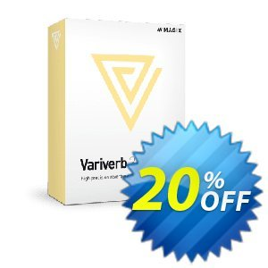 MAGIX VariVerb II discount coupon 20% OFF MAGIX VariVerb II, verified - Special promo code of MAGIX VariVerb II, tested & approved