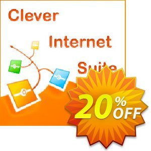 Clever Internet Suite Company License discount coupon 20% OFF Clever Internet Suite Company License, verified - Staggering discount code of Clever Internet Suite Company License, tested & approved