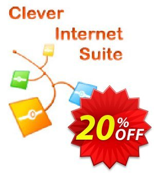 Clever Internet .NET Suite Coupon discount 20% OFF Clever Internet .NET Suite, verified. Promotion: Staggering discount code of Clever Internet .NET Suite, tested & approved