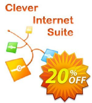 Clever Internet .NET Suite Company License Coupon discount 20% OFF Clever Internet .NET Suite Company License, verified. Promotion: Staggering discount code of Clever Internet .NET Suite Company License, tested & approved