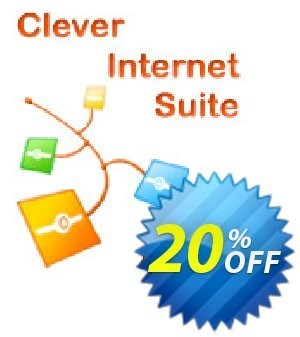 Clever Internet ActiveX Suite discount coupon 20% OFF Clever Internet ActiveX Suite, verified - Staggering discount code of Clever Internet ActiveX Suite, tested & approved