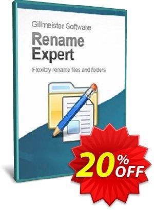 Rename Expert Coupon, discount Coupon code Rename Expert. Promotion: Rename Expert offer from Gillmeister Software