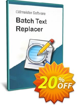 Batch Text Replacer - 10-User License Coupon, discount Coupon code Batch Text Replacer - 10-User License. Promotion: Batch Text Replacer - 10-User License offer from Gillmeister Software