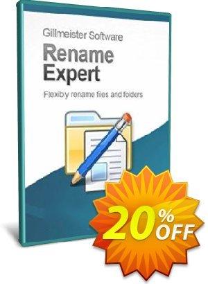 Rename Expert - 20-User License Coupon, discount Coupon code Rename Expert - 20-User License. Promotion: Rename Expert - 20-User License offer from Gillmeister Software