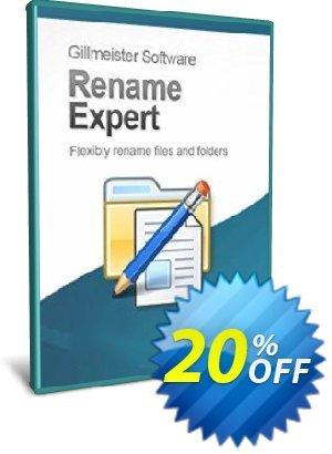Rename Expert - 25-User License Coupon, discount Coupon code Rename Expert - 25-User License. Promotion: Rename Expert - 25-User License offer from Gillmeister Software