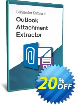 Outlook Attachment Extractor 3 Coupon, discount Coupon code Outlook Attachment Extractor 3. Promotion: Outlook Attachment Extractor 3 offer from Gillmeister Software