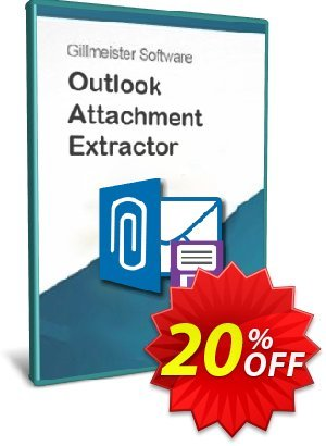 Outlook Attachment Extractor 3 - 15-User License Coupon, discount Coupon code Outlook Attachment Extractor 3 - 15-User License. Promotion: Outlook Attachment Extractor 3 - 15-User License offer from Gillmeister Software