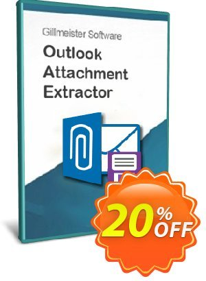 Outlook Attachment Extractor 3 - 100-User License Coupon, discount Coupon code Outlook Attachment Extractor 3 - 100-User License. Promotion: Outlook Attachment Extractor 3 - 100-User License offer from Gillmeister Software