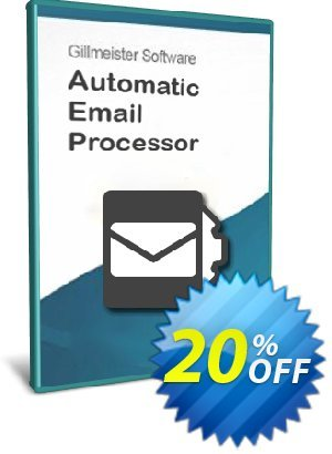 Automatic Email Processor 2 (Ultimate Edition) - 5-User License Coupon, discount Coupon code Automatic Email Processor 2 (Ultimate Edition) - 5-User License. Promotion: Automatic Email Processor 2 (Ultimate Edition) - 5-User License offer from Gillmeister Software