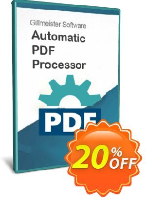 Automatic PDF Processor - 10-user license (1 year) discount coupon Coupon code Automatic PDF Processor - 10-user license (1 year) - Automatic PDF Processor - 10-user license (1 year) offer from Gillmeister Software