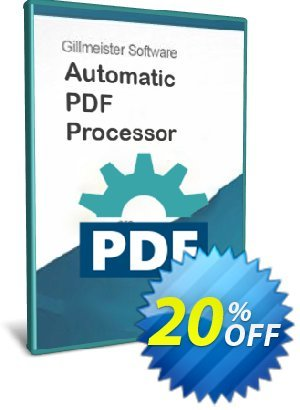 Automatic PDF Processor - 25-user license (1 year) discount coupon Coupon code Automatic PDF Processor - 25-user license (1 year) - Automatic PDF Processor - 25-user license (1 year) offer from Gillmeister Software
