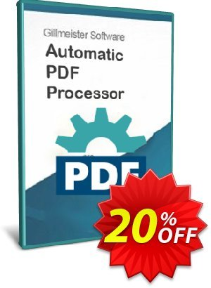Automatic PDF Processor - Site license (1 year) discount coupon Coupon code Automatic PDF Processor - Site license (1 year) - Automatic PDF Processor - Site license (1 year) offer from Gillmeister Software