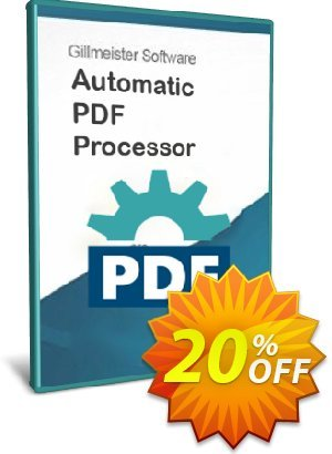 Automatic PDF Processor - Enterprise license (1 year) discount coupon Coupon code Automatic PDF Processor - Enterprise license (1 year) - Automatic PDF Processor - Enterprise license (1 year) offer from Gillmeister Software
