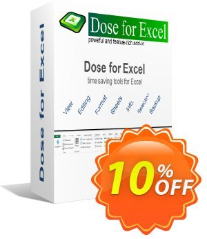 Dose for Excel Coupon, discount Coupon code Dose for Excel. Promotion: Dose for Excel Exclusive offer for iVoicesoft