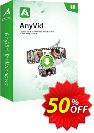AnyVid Monthly discount coupon Coupon code AnyVid Win Monthly - AnyVid Win Monthly offer from Amoyshare