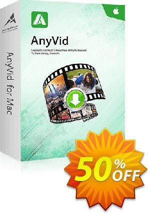 AnyVid for Mac discount coupon Coupon code AnyVid Mac Annually - AnyVid Mac Annually offer from Amoyshare