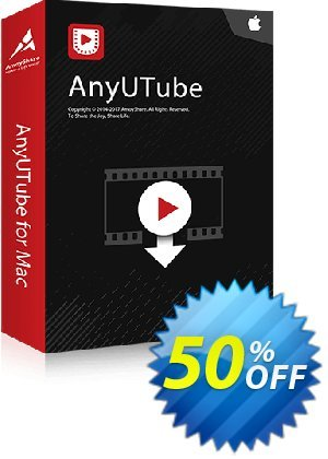AnyUTube for Mac Monthly discount coupon Coupon code AnyUTube Mac Monthly - AnyUTube Mac Monthly offer from Amoyshare