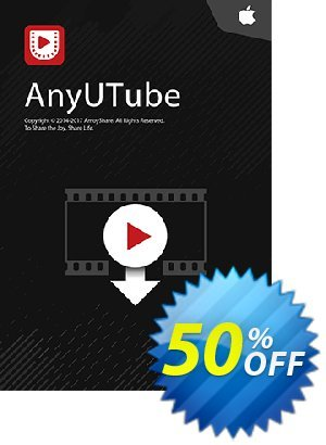 AnyUTube for Mac Coupon, discount Coupon code AnyUTube Mac Annually. Promotion: AnyUTube Mac Annually offer from Amoyshare