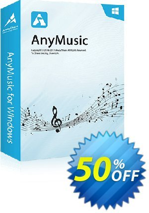 AnyMusic Lifetime Coupon, discount Coupon code AnyMusic Win Lifetime. Promotion: AnyMusic Win Lifetime offer from Amoyshare