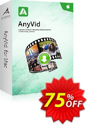 AnyVid for Mac Lifetime discount coupon Coupon code AnyVid Mac Lifetime - AnyVid Mac Lifetime offer from Amoyshare