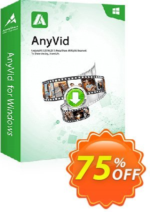 AnyVid Lifetime (5 PCs) Coupon, discount Coupon code AnyVid Win Lifetime (5 PCs). Promotion: AnyVid Win Lifetime (5 PCs) offer from Amoyshare