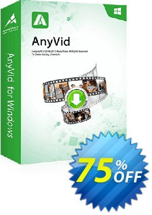 Get AnyVid Win Lifetime (5 PCs) 50% OFF coupon code