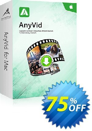 Get AnyVid Mac Lifetime (10 PCs) 50% OFF coupon code