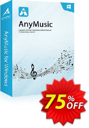 AnyMusic Lifetime (5 PCs) Coupon, discount Coupon code AnyMusic Win Lifetime (5 PCs). Promotion: AnyMusic Win Lifetime (5 PCs) offer from Amoyshare