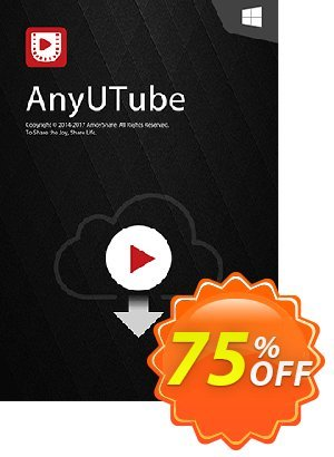 AnyUTube Lifetime (10 PCs) discount coupon Coupon code AnyUTube Win Lifetime (10 PCs) - AnyUTube Win Lifetime (10 PCs) offer from Amoyshare
