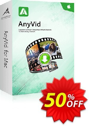 AnyVid for Mac 6-Month Subscription Coupon, discount Coupon code AnyVid Mac 6-Month Subscription. Promotion: AnyVid Mac 6-Month Subscription offer from Amoyshare
