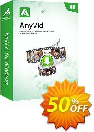 AnyVid 6-Month Subscription discount coupon Coupon code AnyVid Win 6-Month Subscription - AnyVid Win 6-Month Subscription offer from Amoyshare