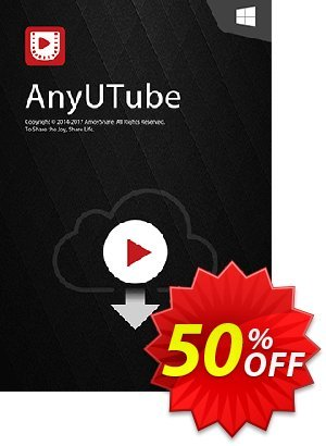 AnyUTube 6-Month Subscription discount coupon Coupon code AnyUTube Win 6-Month Subscription - AnyUTube Win 6-Month Subscription offer from Amoyshare