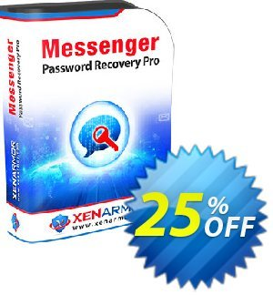 XenArmor Messenger Password Recovery Pro Coupon, discount Coupon code XenArmor Messenger Password Recovery Pro Personal Edition. Promotion: XenArmor Messenger Password Recovery Pro Personal Edition offer from XenArmor Security Solutions Pvt Ltd