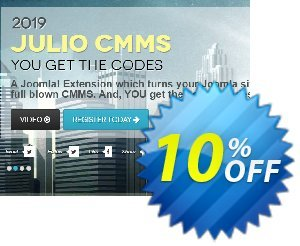 Julio CMMS for Joomla - Professional License 優惠券,折扣碼 Julio CMMS for Joomla - Professional License Best deals code 2020,促銷代碼: Amazing promotions code of Julio CMMS for Joomla - Professional License 2020