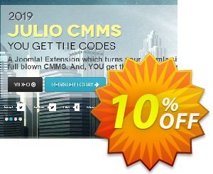 Julio CMMS for Joomla - Enterprise License (Upgraded from Starter) discount coupon Julio CMMS for Joomla - Enterprise License (Upgraded from Starter) Dreaded sales code 2020 - Dreaded sales code of Julio CMMS for Joomla - Enterprise License (Upgraded from Starter) 2020