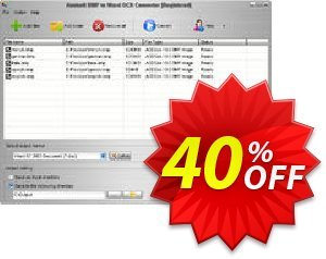 Aostsoft BMP to Word OCR Converter Coupon, discount Aostsoft BMP to Word OCR Converter Stirring offer code 2021. Promotion: Stirring offer code of Aostsoft BMP to Word OCR Converter 2021