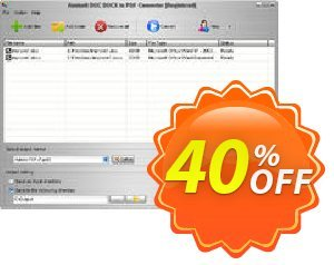 Aostsoft DOC DOCX to PDF Converter Coupon, discount Aostsoft DOC DOCX to PDF Converter Amazing discounts code 2020. Promotion: Amazing discounts code of Aostsoft DOC DOCX to PDF Converter 2020