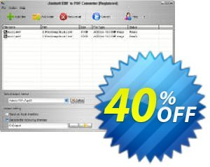 Aostsoft EMF to PDF Converter Coupon, discount Aostsoft EMF to PDF Converter Amazing sales code 2021. Promotion: Amazing sales code of Aostsoft EMF to PDF Converter 2021