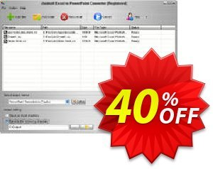 Aostsoft Excel to PowerPoint Converter Coupon, discount Aostsoft Excel to PowerPoint Converter Staggering offer code 2021. Promotion: Staggering offer code of Aostsoft Excel to PowerPoint Converter 2021