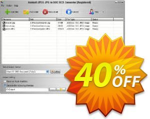 Aostsoft JPEG JPG to DOC OCR Converter Coupon, discount Aostsoft JPEG JPG to DOC OCR Converter Marvelous discounts code 2021. Promotion: Marvelous discounts code of Aostsoft JPEG JPG to DOC OCR Converter 2021