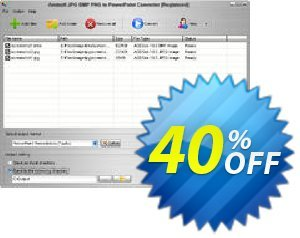 Aostsoft JPG BMP PNG to PowerPoint Converter Coupon, discount Aostsoft JPG BMP PNG to PowerPoint Converter Amazing offer code 2021. Promotion: Amazing offer code of Aostsoft JPG BMP PNG to PowerPoint Converter 2021
