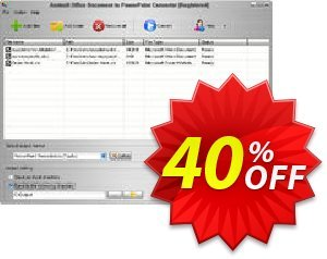 Aostsoft Office Document to PowerPoint Converter Coupon, discount Aostsoft Office Document to PowerPoint Converter Big discounts code 2021. Promotion: Big discounts code of Aostsoft Office Document to PowerPoint Converter 2021