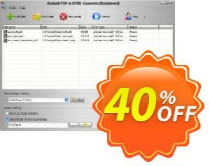Aostsoft PDF to HTML Converter Coupon, discount Aostsoft PDF to HTML Converter Big sales code 2021. Promotion: Big sales code of Aostsoft PDF to HTML Converter 2021