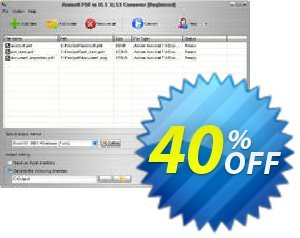 Aostsoft PDF to XLS XLSX Converter Coupon, discount Aostsoft PDF to XLS XLSX Converter Awful discounts code 2021. Promotion: Awful discounts code of Aostsoft PDF to XLS XLSX Converter 2021
